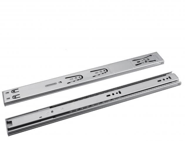 304不鏽鋼 三節緩衝鋼珠滑軌(DS4304) 1